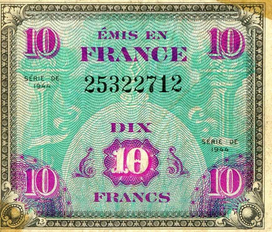 Anciens francs type 1944 - Retours vers les Basses-Pyrénées
