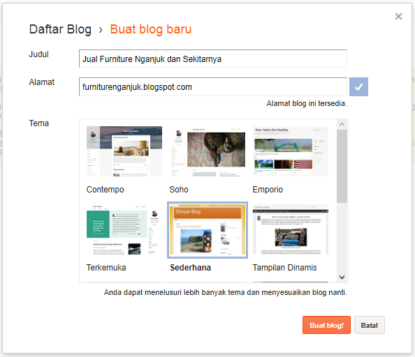 membuat blog gratis di blogspot 4