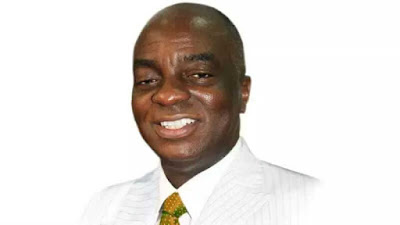 US Televangelist Lays Hands on Bishop Oyedepo for More 'Anointing' On 36th Year Anniverssary