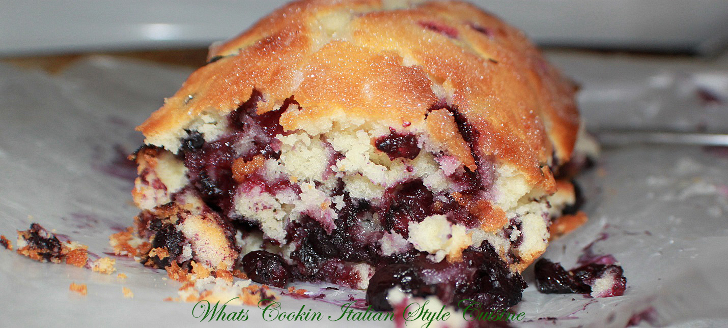 this is a lemon blueberry loaf made from scratch