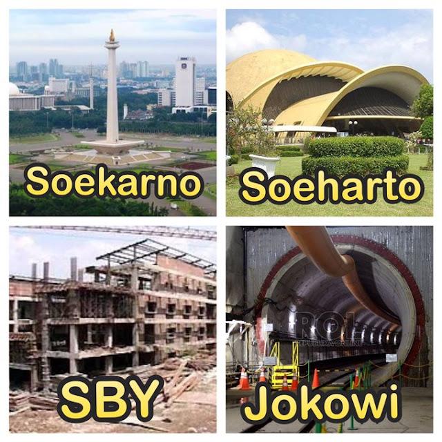 Bangunan Peninggalan Presiden RI: Soekarno, Soeharto, SBY dan Jokowi Versi Netizen