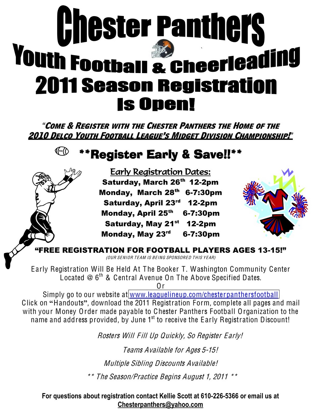 The Chester City Blog: Chester Panthers Football Registration