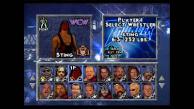 WCW/nWo Thunder Sting PlayStation PS1 wrestling
