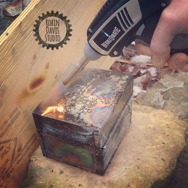 the making of a Pet Urn - Metal Handmade Memorial Box - Robin Davis Studio