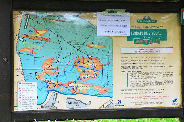 Informations aire de bivouac de la Grande Vallée, Fontainebleau