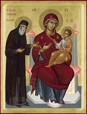 Επίσκεψη της Παναγίας στον Άγιο Παΐσιο