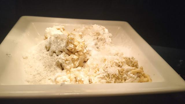 Mixing Mawa paneer Corn flour Maida cardamom powder for Kala Jamun recipe