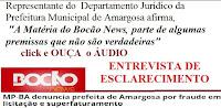 Entrevista  com Dr. Igor Coutinho, Assessor Jurídico da Prefeitura de Amargosa, a Radio Vale FM esclarecendo reportagem veiculada no site Bocão News.