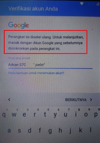 Cara Remove Akun Google Frp Advan S50k Tanpa Pc Android Tutorial
