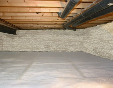 Crawl Space After Insulation - Delmarva Spray Foam