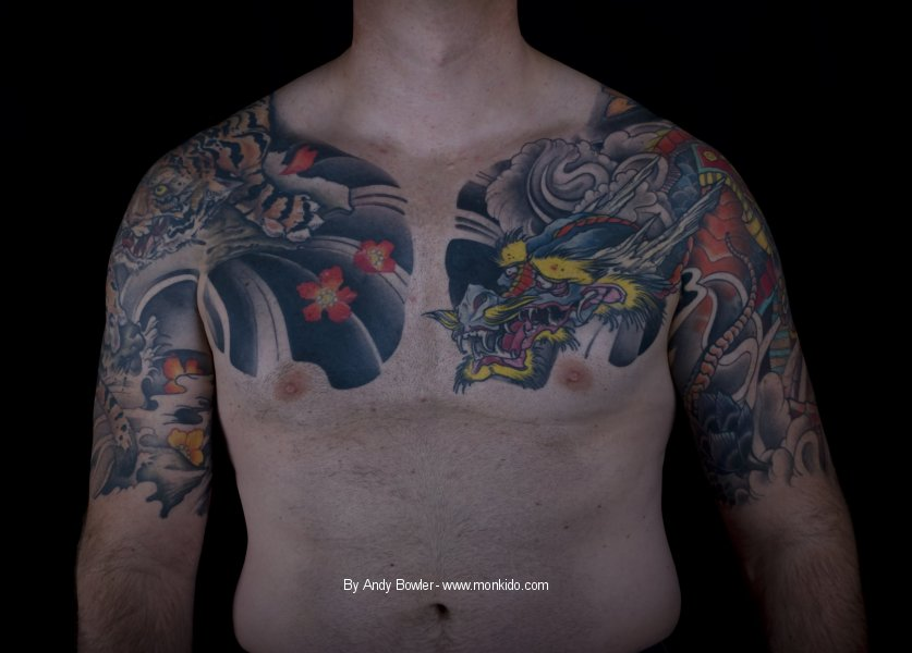 Chest Plate Tattoo Designs For Men And Women Dragon Koi: Monki Do Tattoo Studio: Japanese Sleeves And Chest Plate