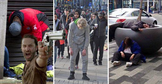 """Zombis de Walking Dead invaden Inglaterra: la droga """"Spice"""""""
