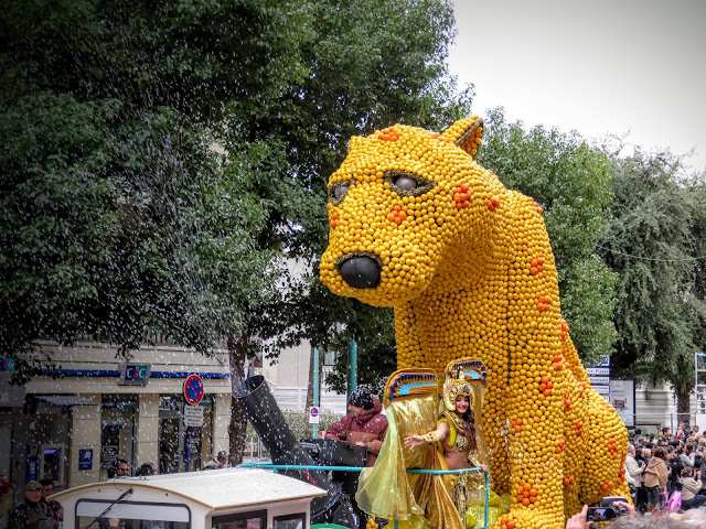 Menton Lemon Festival Parade: a striking leopard