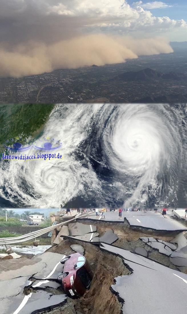 Huragany bardzo silne trzęsienia Ziemi Burza piaskowa Phoenix -działanie Żywiołów