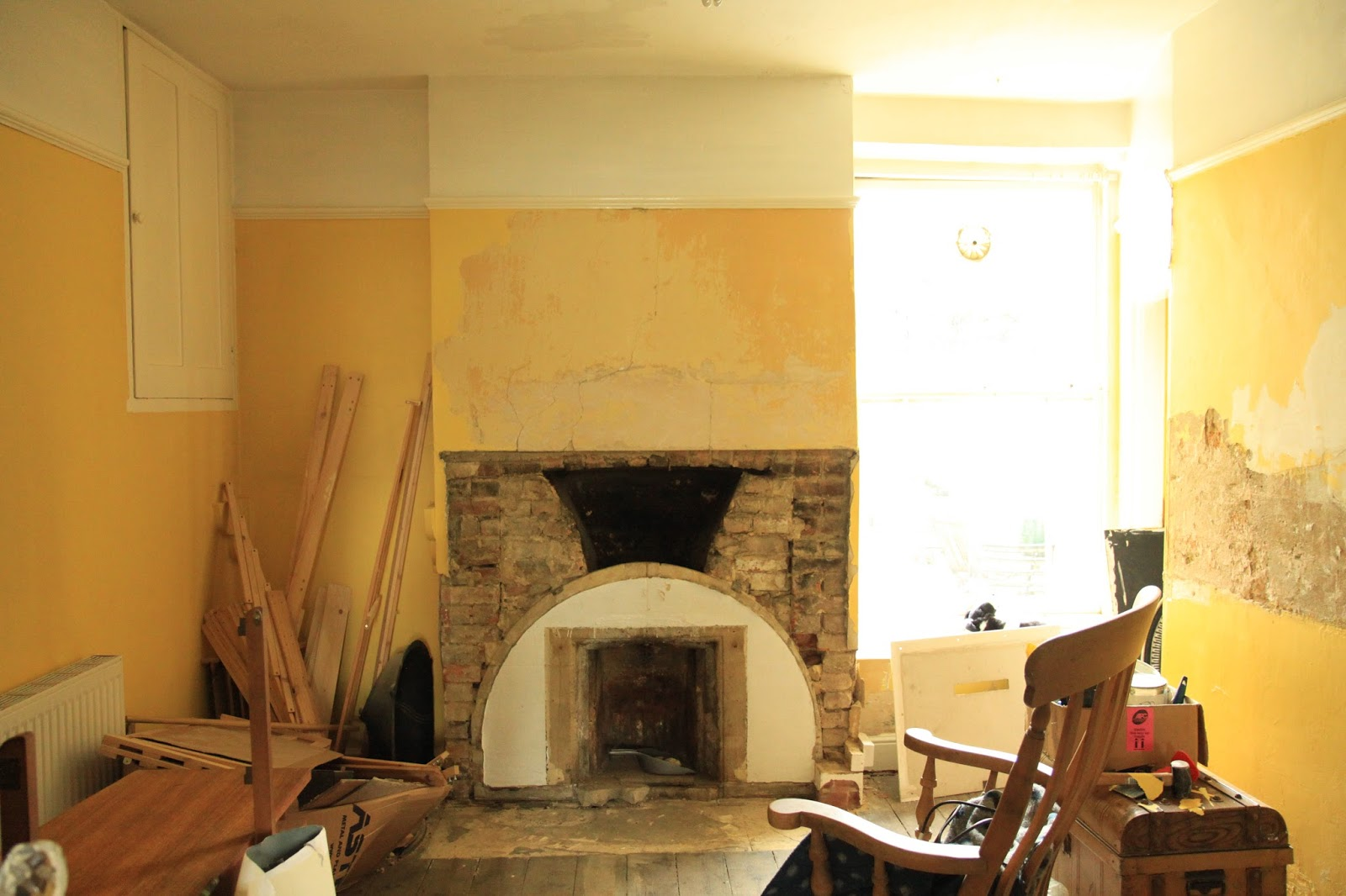 modern country style getting the chimney breast ready