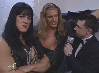 WWE / WWF In Your House 20: No Way Out of Texas - Michael Cole interviews Triple H (w/ Chyna)