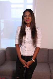 Nia Sharma at an itnerview for For Web Series Twisted 01.JPG