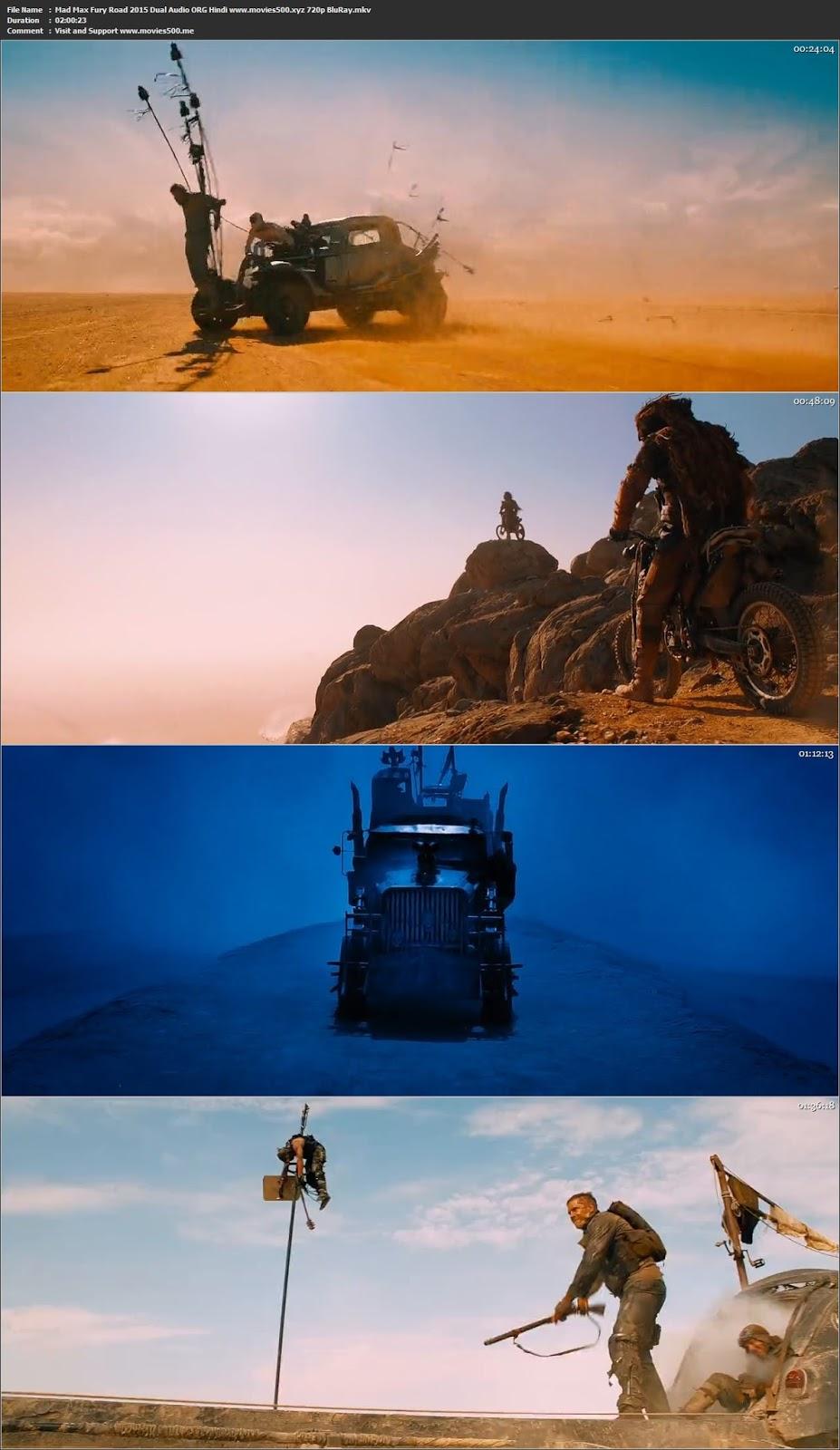 Mad Max Fury Road 2015 Dual Audio Hindi Movie BluRay 720p at movies500.bid