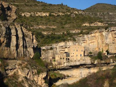 Medieval abbey of Sant Miquel del Fai near Barcelona