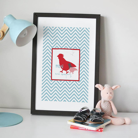 deco ideas, wall art for kids, animals and chevron patterns