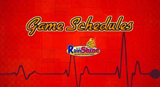 List: Rain or Shine Elasto Painters Game Schedules 2017-2018 PBA Philippine Cup