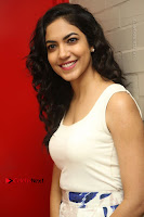 Actress Ritu Varma Stills in White Floral Short Dress at Kesava Movie Success Meet .COM 0120.JPG