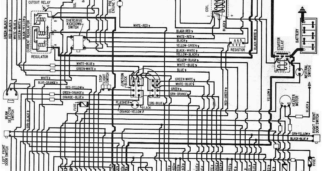 1957 Ford Fairlane 500, 300, Custom 300, And Thunderbird Complete Electrical Wiring Diagram