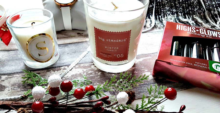 Gift guide for her, Last minute present ideas, alphabet candle, initial candle, Bog Standard, Winter Candle, Christmas Candle