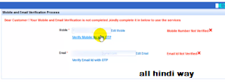 verify email and mobile number in irctc by allhindiway.com