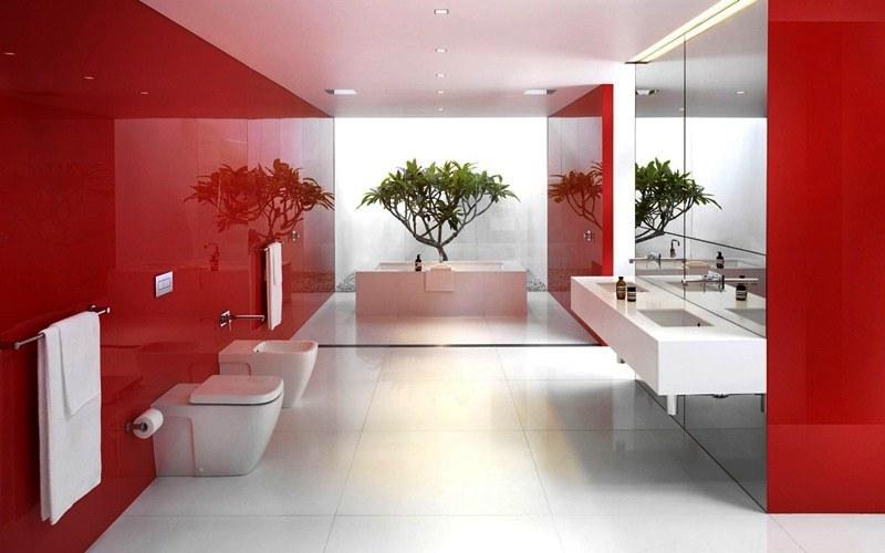 Warna Cat Interior Rumah Minimalis Merah