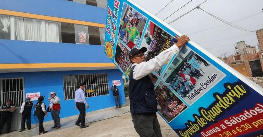 Autoridades clausuran colegios que no tienen autorización del MINEDU en Villa El Salvador