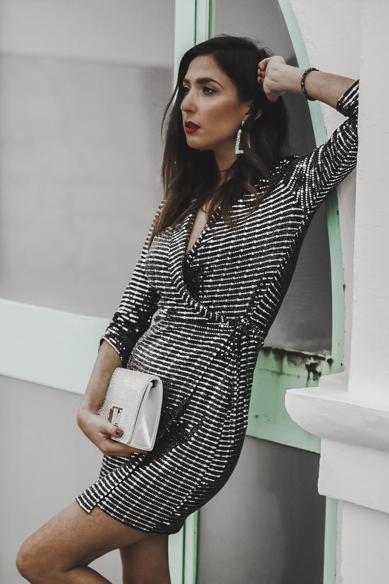 vestido de lentejuelas quiz clothing