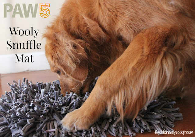 paw5 wooly snuffle mat to challenge your dogs senses