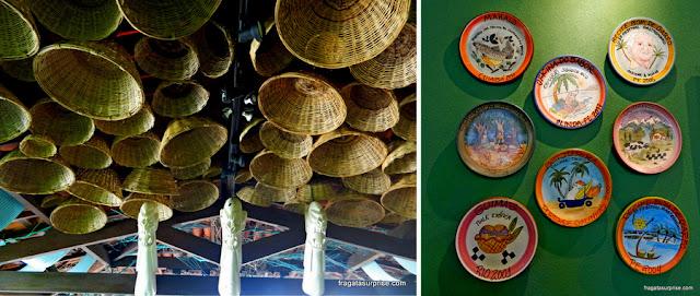 Detalhes da decoração do restaurante Oficina do Sabor, em Olinda