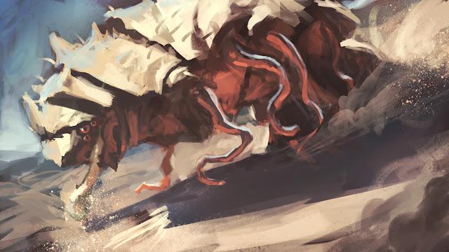 illustration, fantasyart, art, douglas deri, deri,creature design,paint,photoshop,sketchbook, fantasyart, worm