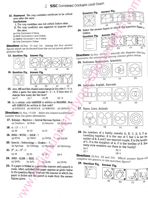 Download SSC CGL Tier 1 2015 Solved Question Paper