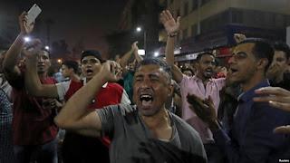 اشتباكات بين الشرطة المصرية ومعارضين للسيسي في السويس في ثاني أيام المظاهرات