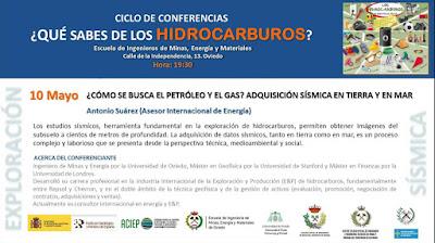 Conferencia Minas Oviedo: Como se buscan petroleo y gas