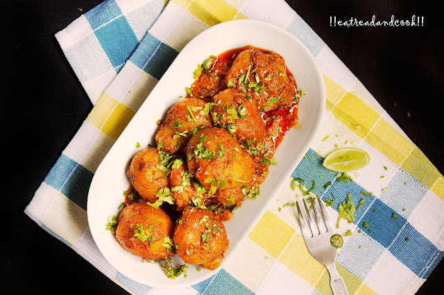 easy and simple dum aloo with yogurt recipe