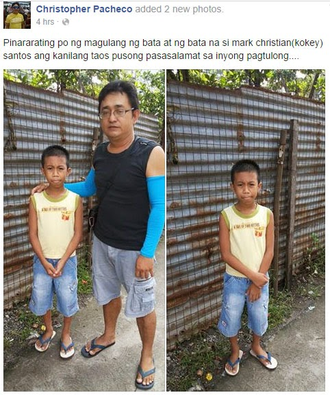 Pandesal boy with his father