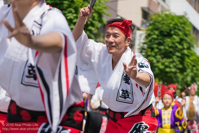 マロニエ祭りで浅草雷連の男踊りの踊り手の一人を撮影した写真 その7