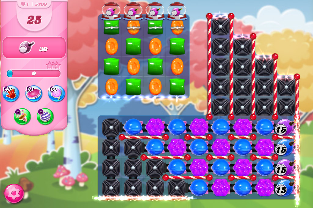 Candy Crush Saga level 5709