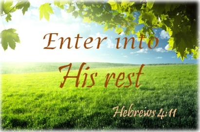 Image result for sabbath rest""