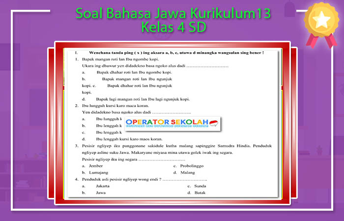 Soal Bahasa Jawa Kurikulum13