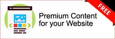 Free Premium Content for your Website
