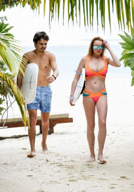 Lindsay Lohan in a Bikini