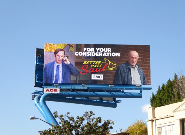 Better Call Saul season 2 awards consideration billboard