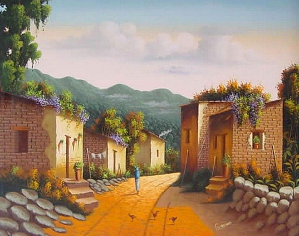 Im genes arte pinturas paisajes mexicanos para pintar for Pintura moderna de la casa
