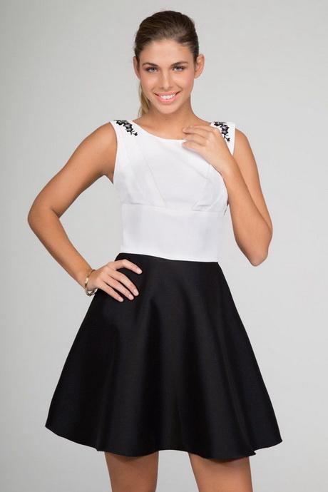 Vestidos Blanco con Negro ¡12 Diseños Espectaculares!