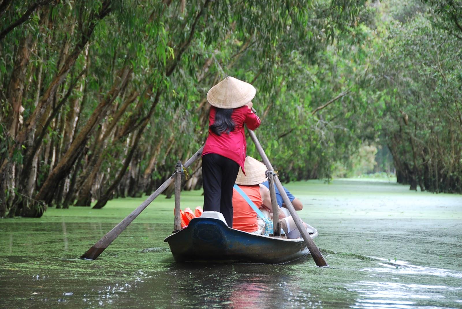 Đi thuyền tham quan rừng tràm Trà Sư - Photo An Bùi